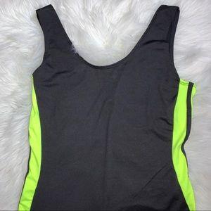 Neon green/ black romper 💚